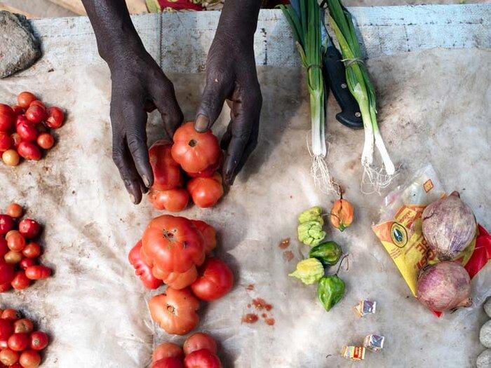 fresh vegetables at the market