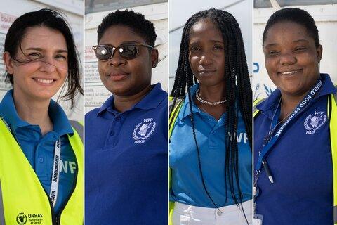 Vier Frauen, ein Hubschrauber: Die Gesichter hinter dem humanitären Helikopter von WFP in Haiti