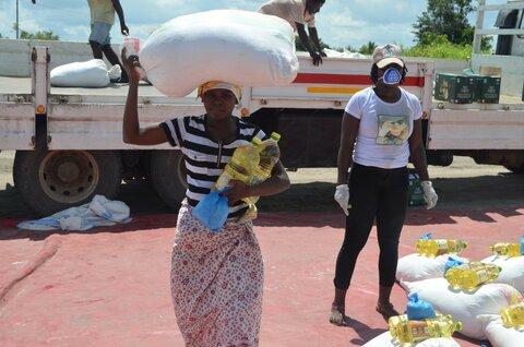 Mosambik bis Syrien: Die COVID-19-Hilfe von WFP in Bildern