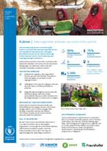WFP Innovation Accelerator H2Grow: Nahrungsmittel anbauen, wo sonst nichts wächst